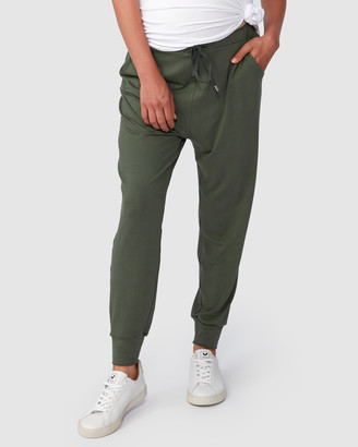 Pea in a Pod Maternity - Women's Green Sweatpants - Jaya Slouch Pants - Size One Size, XS at The Iconic