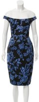 Lela Rose Off-The-Shoulder Sheath Dress w/ Tags