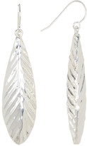Simon Sebbag Sterling Silver Long Feather Drop Earrings
