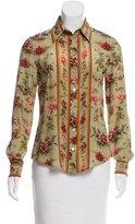 Jean Paul Gaultier Floral Print Silk Blouse
