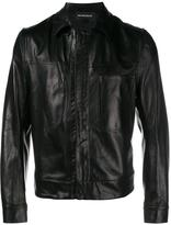 Ann Demeulemeester concealed zip jacket
