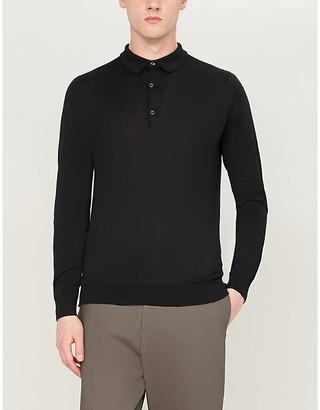 John Smedley Bradwell cotton-knit polo top