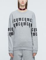 McQ by Alexander McQueen Logo Embroidered Sweatshirt