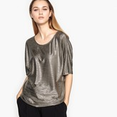 La Redoute Collections Short-Sleeved Shimmer Blouse