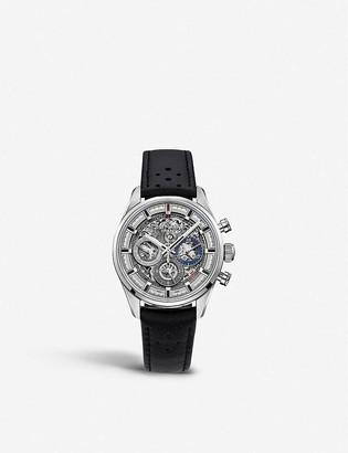 Zenith 03.2153.400/78.C813 Chronomaster El Primero Full Open croc-embossed calfskin-leather watch