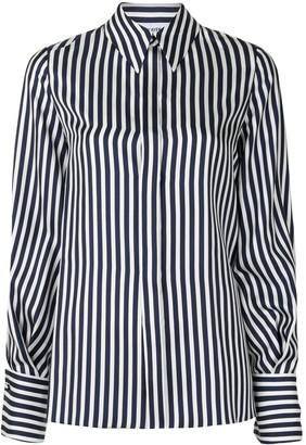 Dice Kayek Bishop Sleeve Striped Shirt