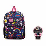 Asstd National Brand Street Denim Backpack with Headphones