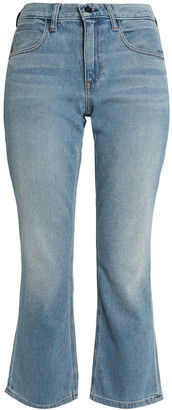 Alexander Wang Faded Mid-rise Kick-flare Jeans