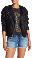 BLANKNYC Denim Zip Faux Leather Jacket