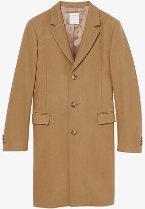 Sandro Apollo single-breasted wool-blend coat