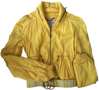 Byblos Yellow Cotton Jacket for Women