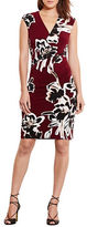 Lauren Ralph Lauren Floral Jersey Sheath Dress
