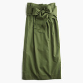 J.Crew Paper-bag skirt in twill