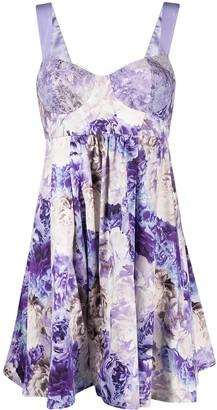 Elisabetta Franchi Floral Bodice-Detail Dress