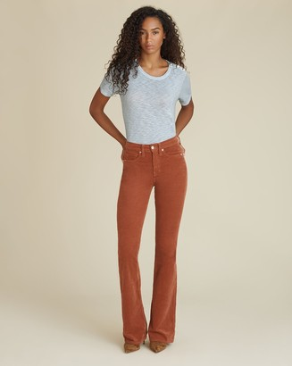 Veronica Beard Beverly High-Rise Skinny-Flare Corduroy Jean