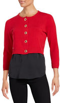 Calvin Klein Toggle Clasp Crop Cardigan