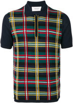 Pringle knitted tartan polo shirt