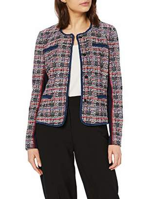 Gerry Weber Women's 130006-38030 Suit Jacket Multicolour (Navy/Rot/Pink Kariert 8107) (Size: 38)