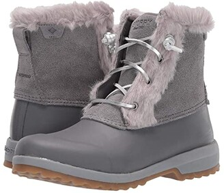 Sperry Maritime Repel Suede (Grey) Women's Boots