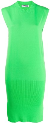 Courreges Fine Knit Side Slit Dress
