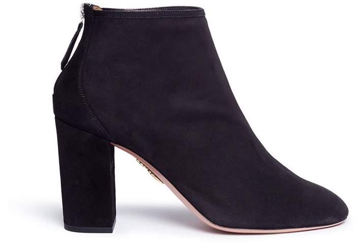 Aquazzura 'Downtown Bootie 85' suede ankle boots
