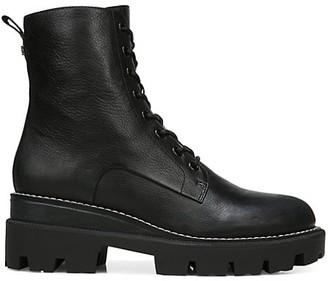 Sam Edelman Garret Lug-Sole Leather Combat Boots