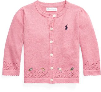 Ralph Lauren Embroidered Cotton Cardigan