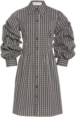 Michael Kors Ruched Poplin Shirt Dress