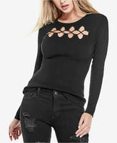GUESS Mia Lace-Up Sweater