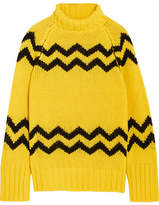 Joseph Intarsia Wool Turtleneck Sweater - Yellow