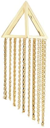 Olivia Yao 'Ivory' cutout pyramid chain single magnet clip earring