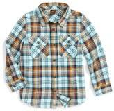 Tea Collection Toddler Boy's Biwa Plaid Flannel Shirt