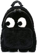 Anya Hindmarch 'eyes' medium backpack - women - Leather/Sheep Skin/Shearling - One Size
