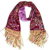 Etro Embellished Embroidered Silk Scarf