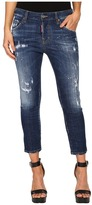 DSQUARED2 Perfetto Wash Cool Girl Cropped Jeans in Blue Women's Jeans