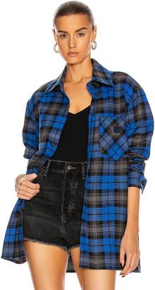 Acne Studios Salak Flannel Face Shirt in Ink Blue | FWRD