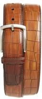 Magnanni Men's Croc Embossed Calfskin Leather Belt