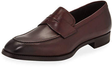 Giorgio Armani Men's Smooth Leather Penny Loafers
