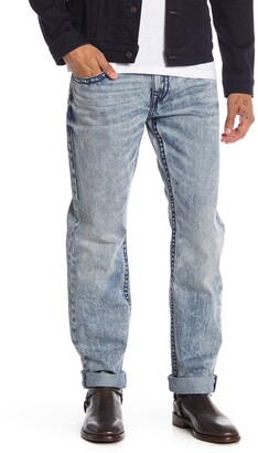True Religion Straight Acid Wash Jeans