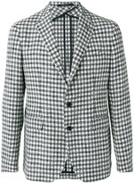 Tagliatore checked blazer - men - Cotton/Linen/Flax/Polyamide/Polyacrylic - 48