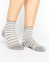 Falke Grey Poplin Short Socks