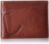 Fossil Men's Embossed Anchor Foster L-Zip Bifold