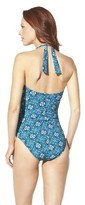 Sara Blakely ASSETS® By A Spanx® Brand Women's Printed 1-Piece Swimsuit -Teal