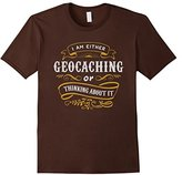 Men's Geocacher T Shirt Either Geocaching Or Thinking About It 3XL