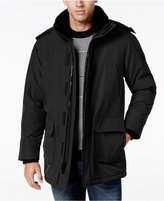 Calvin Klein Men's Faux-Fur Collar Parka with Removable Hood