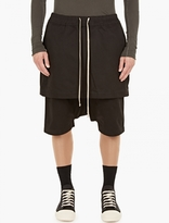 Rick Owens Black Kilt Boxer Pod Shorts