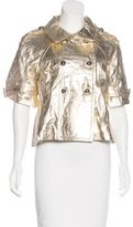 Jocelyn Leather Metallic Jacket