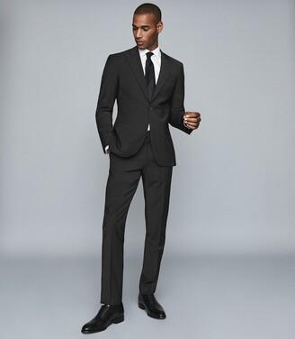 Reiss Trust - Slim Fit Travel Blazer in Black