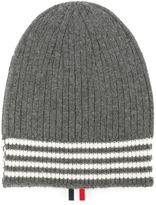 Thom Browne striped beanie