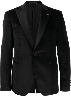 Tagliatore Velvet-Lapel Single-Breasted Blazer